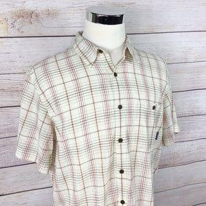 Patagonia Organic Cotton Button Up S/S Shirt Sz L